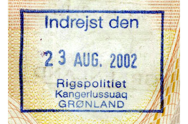 Greenland Passport Stamp