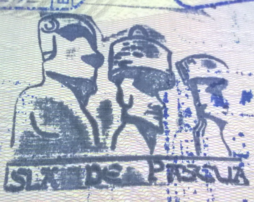 Easter Island, Chile Passport Stamp