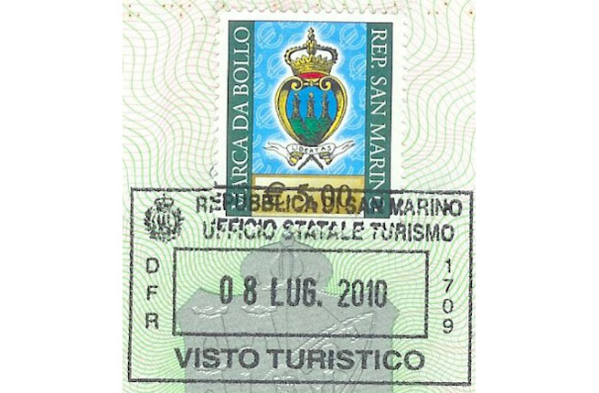 Republic of San Marino Passport Stamp