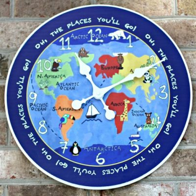 Kids World Map Clock
