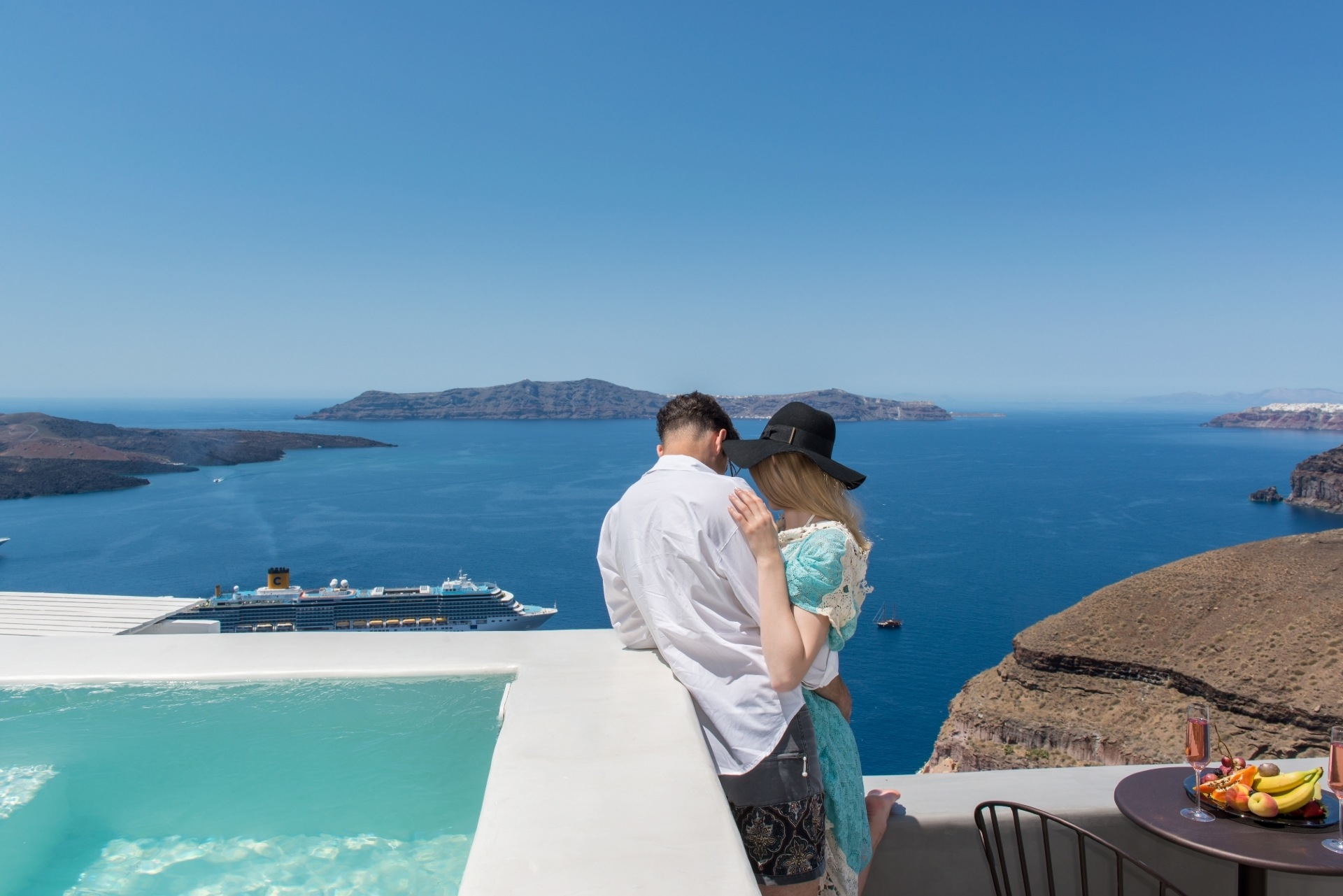 Idyllic destinations for the greatest yes ever my for Honeymoon packages santorini greece