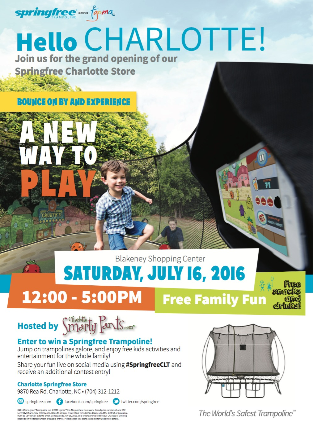 Springfree Trampoline Grand Opening In Charlotte, North Carolina
