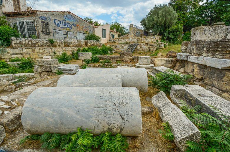 Athens Ruins And Graffiti