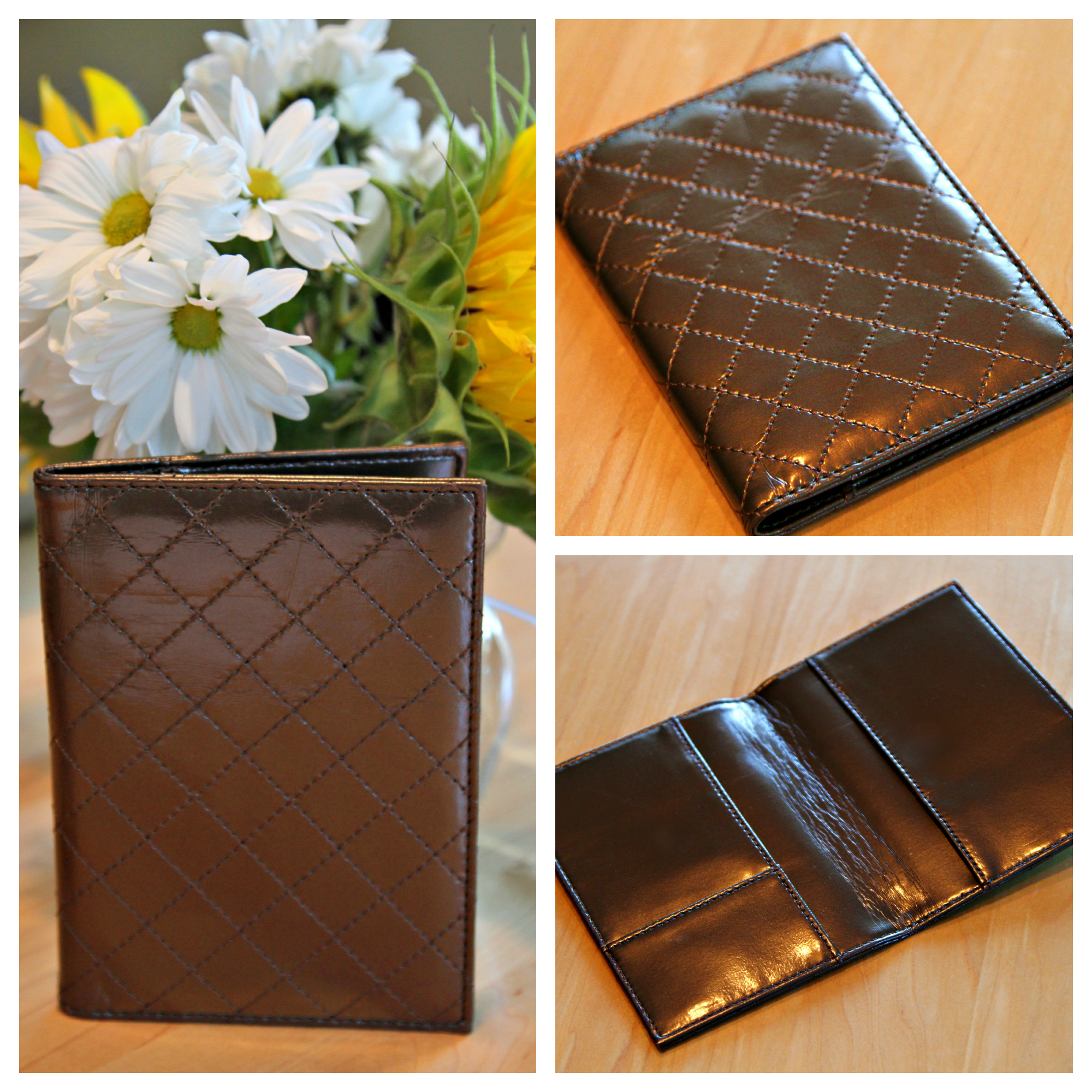 Luxurious Quilted Passport Cover