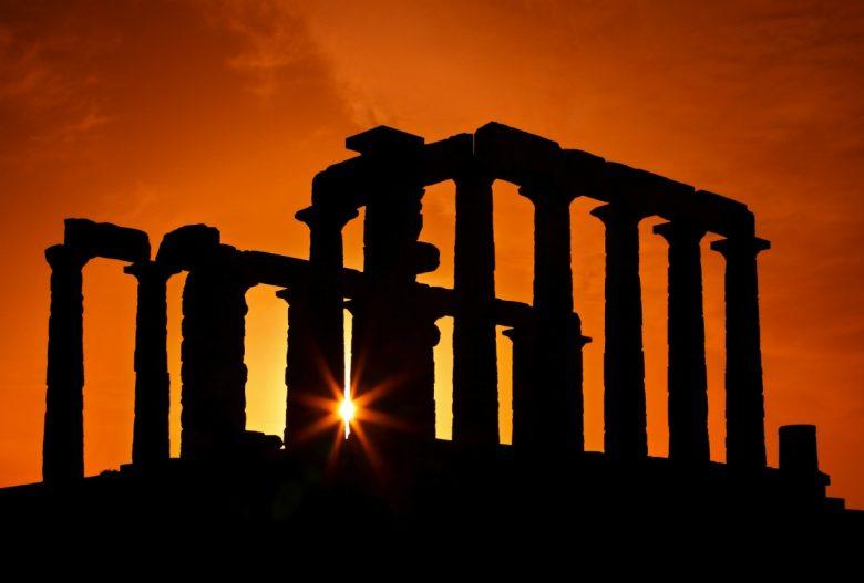 Athens Cape Sounio Sunset