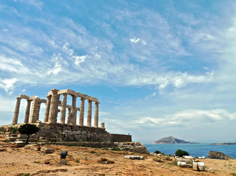 Imposing Temple Poseidon
