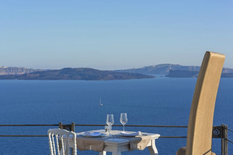 Lauda Restaurant View From Oia