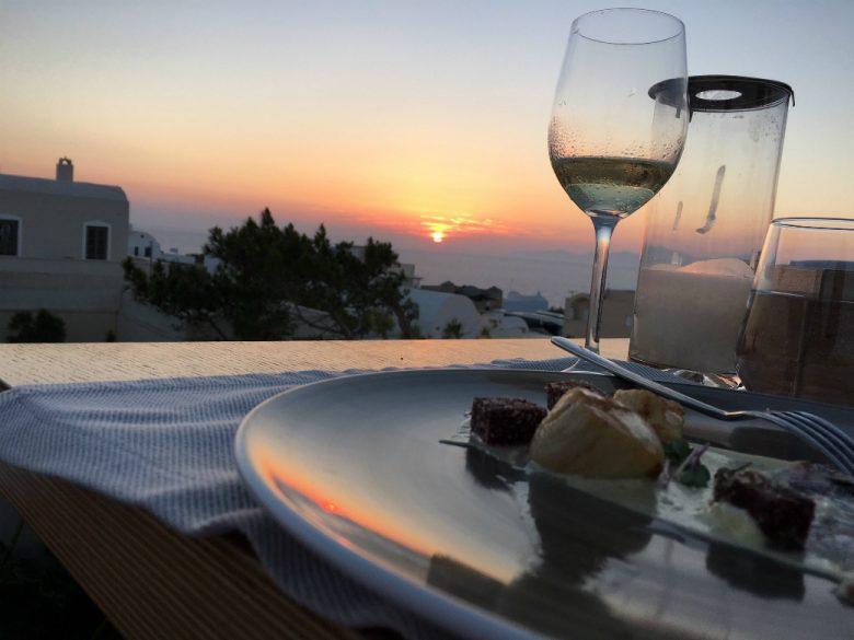 Sunset at Catch Restaurant