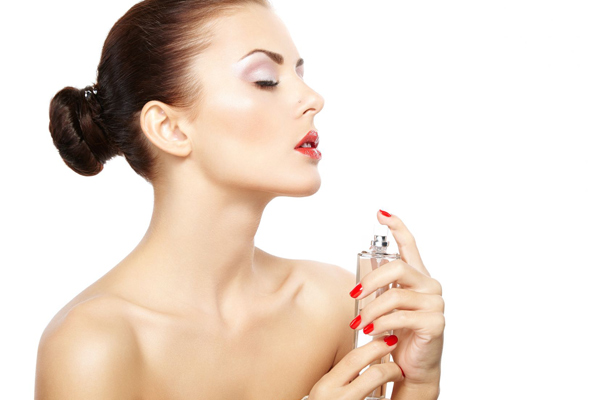 A woman and her perfume