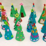 Design And Color Your Own Christmas Cones