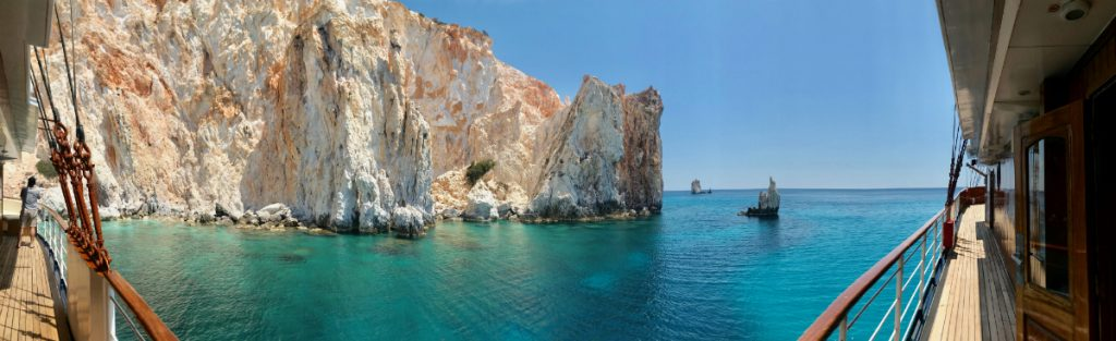 Poliegos island with Variety Cruises