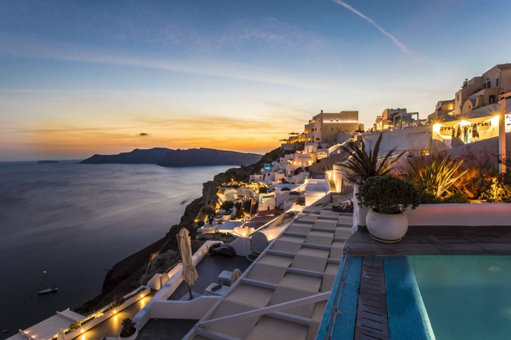 Santorini Secret Suites & Spa hotel view sunset