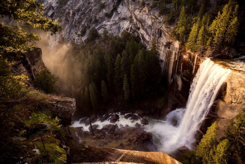Waterfall in Yosemite National Park Yosemite