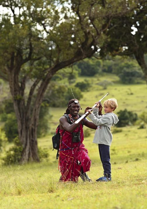 Maasai warriors perform