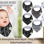 Liquid Absorption with Style- Only possible with baby bandana bibs