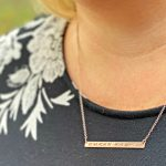 Review: Coordinate Bar Necklace By oNecklace