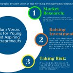 2020 Info-graphic by Adam Veron On Tips For Young And Aspiring Entrepreneur