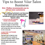 2020 Infographic by Eric Dalius on Highlights Tips to Boost Your Salon Business
