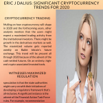 2020 Infographic by Eric J Dalius shares significant cryptocurrency trends for 2020