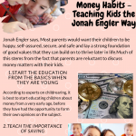 2020 Infographic by Jonah Engler Good Money Habits – Teaching Kids the Jonah Engler Way