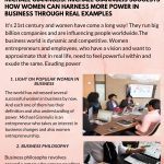 Infographic by Michael Giannulis suggests how women can harness more power in business through real examples