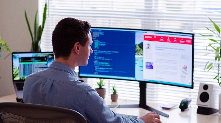 Dual Curved Monitors